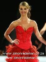 Cindy Nell wearing Simon Rademan