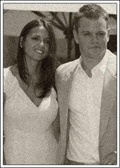 Luciana Bozan (Borrosa) married Matt Damon