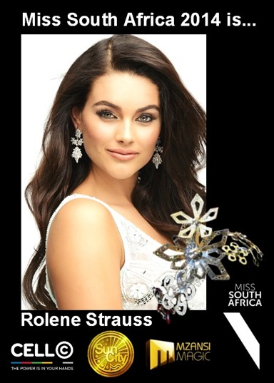 Miss South Africa 2914, Rolende Strauss
