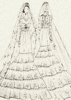 A wedding gown for royalty, by Alice Temperly