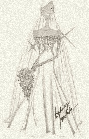 A wedding gown for royalty, by Badgley Mishka