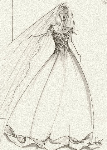 A wedding gown for royalty, by Ben de Lisi