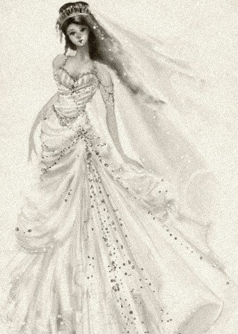 A wedding gown for royalty, by Carlylyn