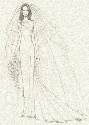 A wedding gown for royalty, by Gucci