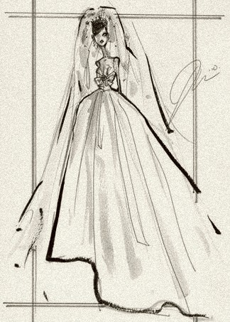 A wedding gown for royalty, by Jason Wu