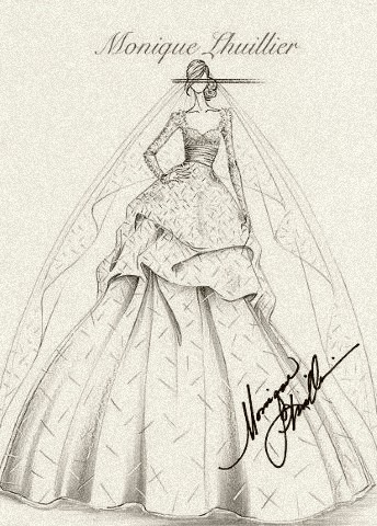 A wedding gown for royalty, by Monique Lhuillier
