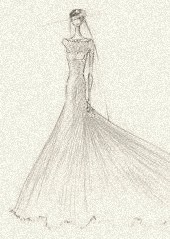 A wedding gown for royalty, by Pamella Rolland