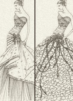 A wedding gown for royalty, by Pucci