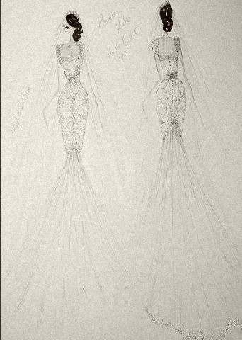 A wedding gown for royalty, by Ralph Russo