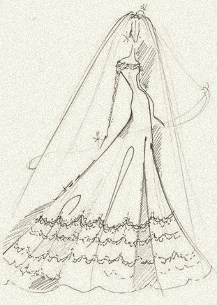 A wedding gown for royalty, by Reem Acra