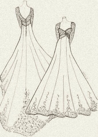 A wedding gown for royalty, by Sassy Holford.