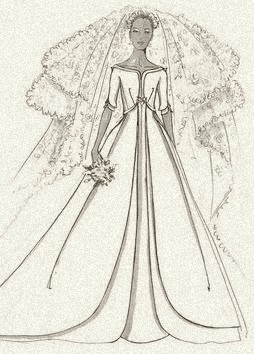 A wedding gown for royalty, by Uffe Frank